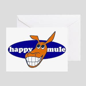 happy mule Greeting Card