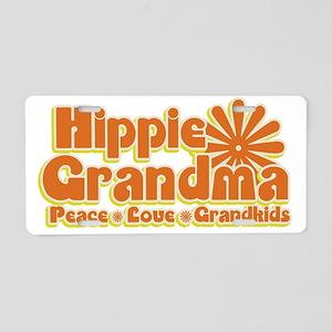 Hippie Grandma Aluminum License Plate