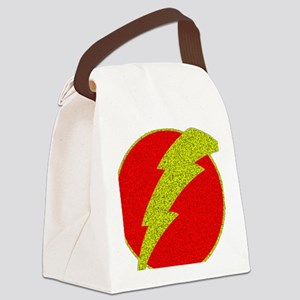 Flash Bolt Superhero Canvas Lunch Bag