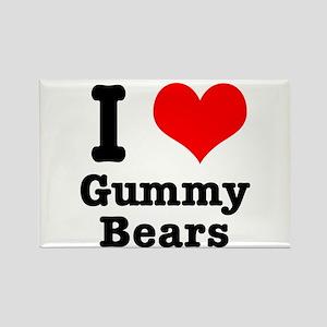 I Heart (Love) Gummy Bears Rectangle Magnet