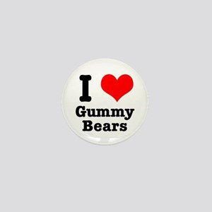 I Heart (Love) Gummy Bears Mini Button