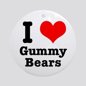 I Heart (Love) Gummy Bears Ornament (Round)