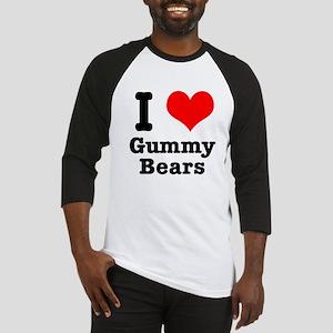 I Heart (Love) Gummy Bears Baseball Jersey