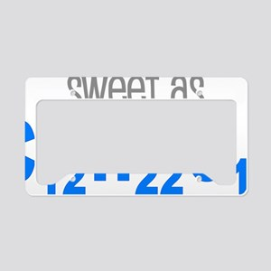 Sweet as Sugar Chemistry License Plate Holder