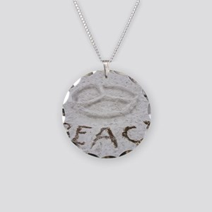 Peace Necklace Circle Charm