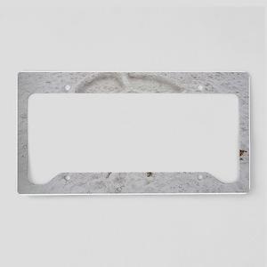 Peace Symbol License Plate Holder