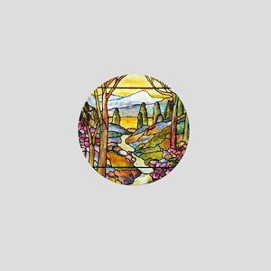 Tiffany Landscape Window Mini Button