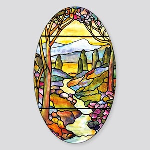 Tiffany Landscape Window Sticker (Oval)