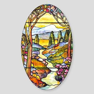 Tiffany Landscape Window Sticker (Oval)