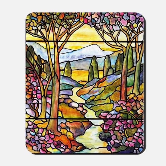 Tiffany Landscape Window Mousepad