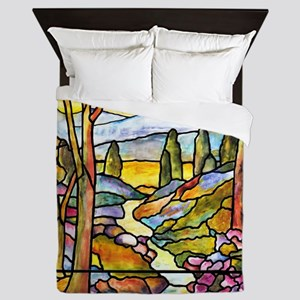 Tiffany Landscape Window Queen Duvet
