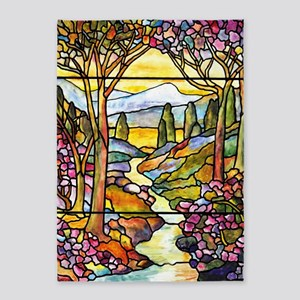 Tiffany Landscape Window 5'x7'Area Rug