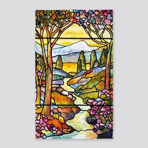 Tiffany Landscape Window 3'x5' Area Rug