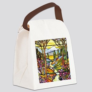 Tiffany Landscape Window Canvas Lunch Bag