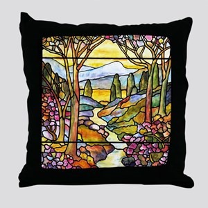 Tiffany Landscape Throw Pillow