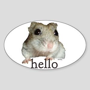 Hello... Goodbye Sticker (Oval)
