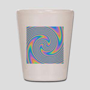 Colorful Swirl Design. Shot Glass