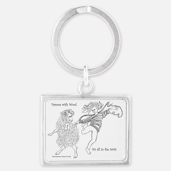 Dances with Wool ... Its all in Landscape Keychain