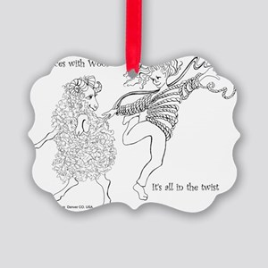 Dances with Wool ... Its all in t Picture Ornament