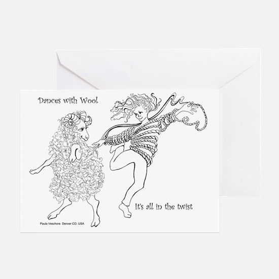 Dances with Wool ... Its all in the  Greeting Card