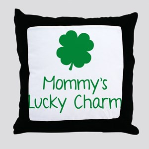 mommysLuckyCharm1C Throw Pillow