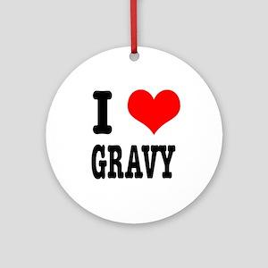 I Heart (Love) Gravy Ornament (Round)