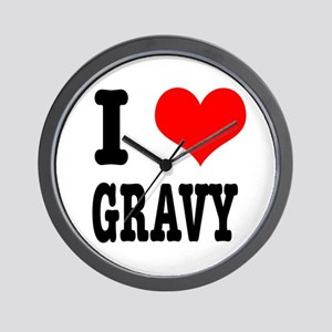 I Heart (Love) Gravy Wall Clock