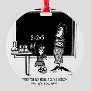 Kids Class Action Suit in Math Clas Round Ornament