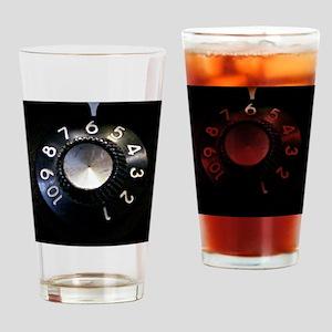 Amp Volume Knob Drinking Glass