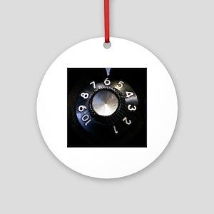 Amp Volume Knob Round Ornament