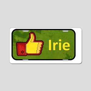 Irie Button Aluminum License Plate