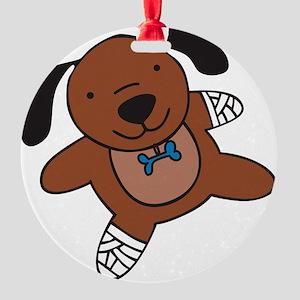 Hurt Puppy Round Ornament