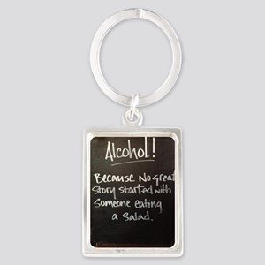 The truth about Alcohol Portrait Keychain