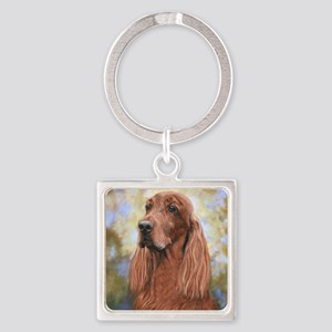 Irish Setter by Dawn Secord Square Keychain