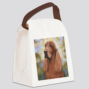 Irish Setter by Dawn Secord Canvas Lunch Bag