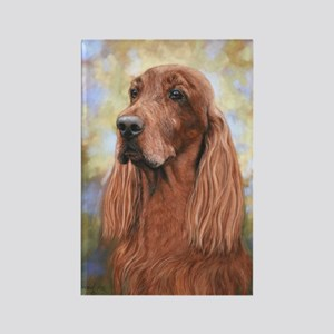 Irish Setter by Dawn Secord Rectangle Magnet