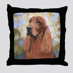 Irish Setter by Dawn Secord Throw Pillow