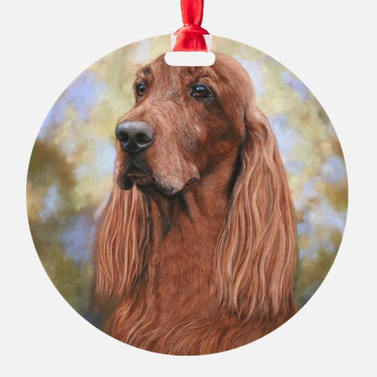 Irish Setter by Dawn Secord Ornament