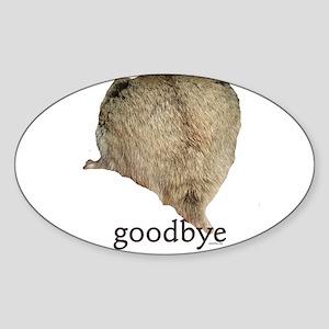 Goodbye Sticker (Oval)