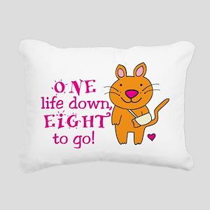One Life Down... Rectangular Canvas Pillow