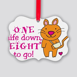 One Life Down... Picture Ornament
