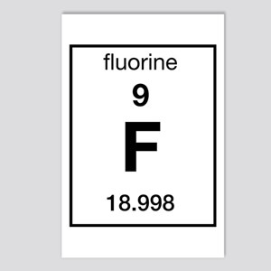 Periodic table fluorine stationery cafepress fluorine postcards package of 8 urtaz Images
