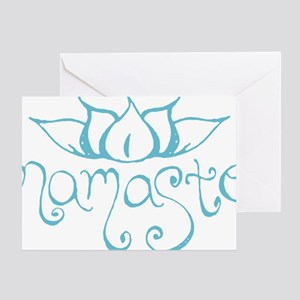 Namaste Lotus Flower Greeting Card