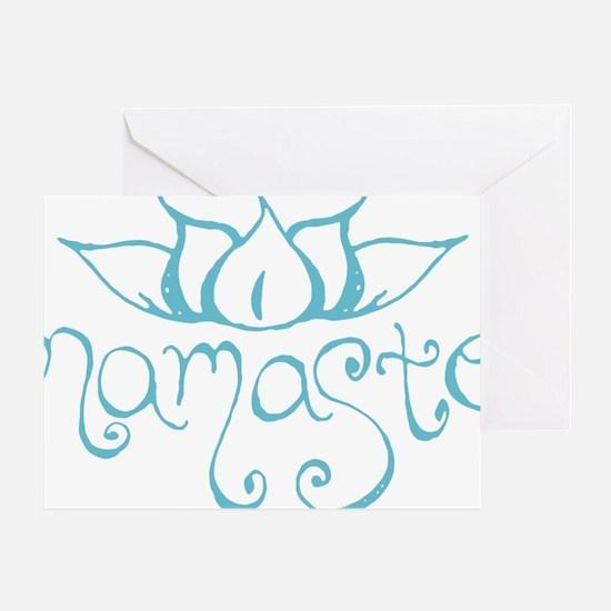 Namaste Lotus Flower Greeting Card