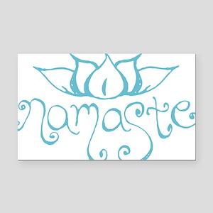 Namaste Lotus Flower Rectangle Car Magnet