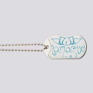 Namaste Lotus Flower Dog Tags