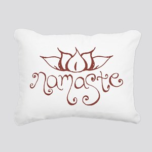 Namaste Lotus Flower Rectangular Canvas Pillow
