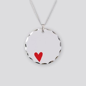 Break Dance Not Hearts Necklace Circle Charm