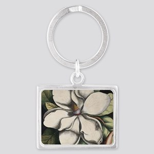 Vintage Magnolia Landscape Keychain