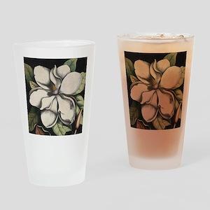 Vintage Magnolia Drinking Glass